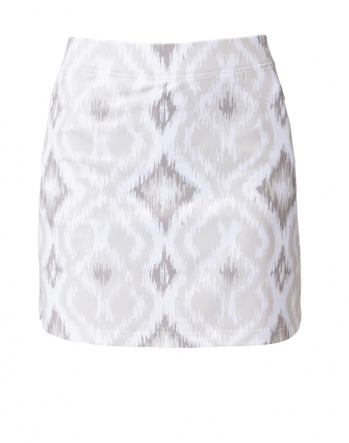 Gretchen Scott Beige and White Ikat Printed Skort