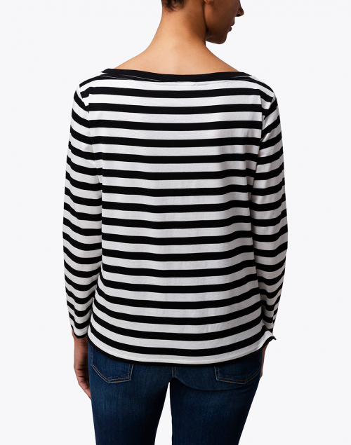 Weekend Max Mara - Ritmo Black and White Striped Cotton Shirt