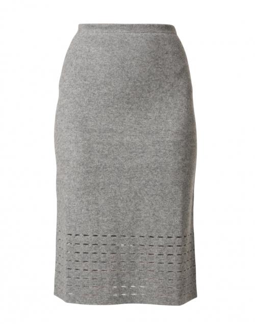 TSE Cashmere - Heather Grey Felted Wool Cashmere Skirt