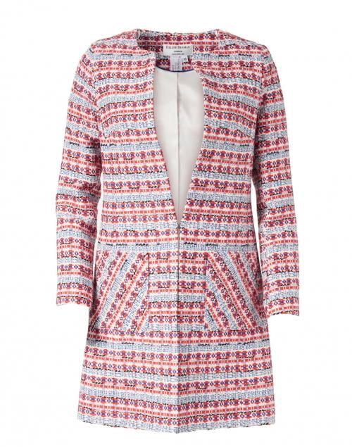 Helene Berman - Edge to Edge Blue and Red Tweed Jacket