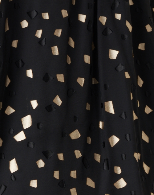 Ports International - Black and Gold Geometric Printed Blouse