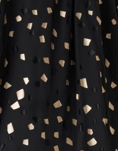 Ports International - Black and Gold Geometric Printed Blouse