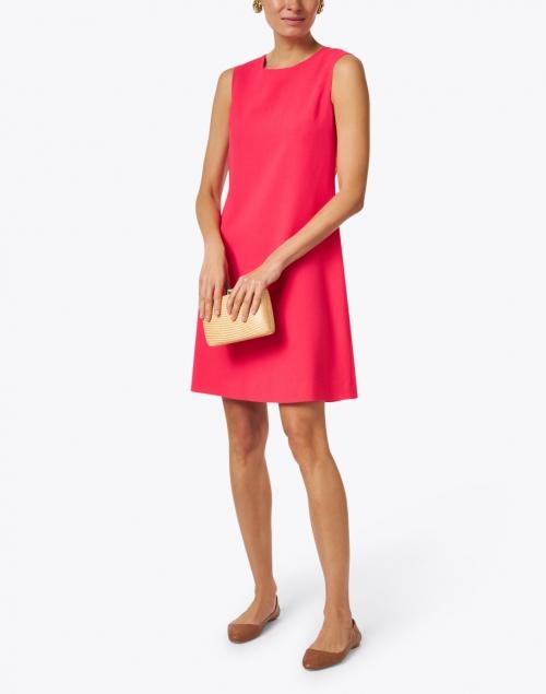 Goat - Lois Flamingo Red Wool Crepe Dress