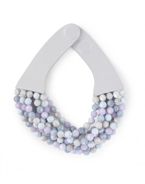 Fairchild Baldwin Bella Lavender Grey Tone Multistrand Necklace