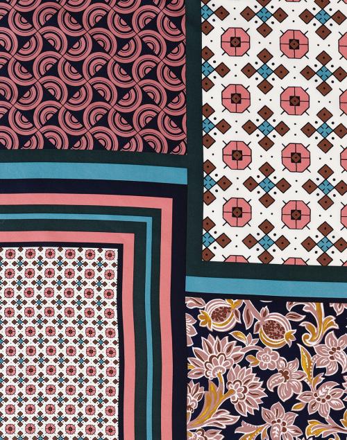 Weekend Max Mara - Calore Multi Tile Print Silk Square Scarf