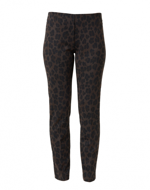 Elliott Lauren - Brown and Black Animal Print Compact Knit Pant