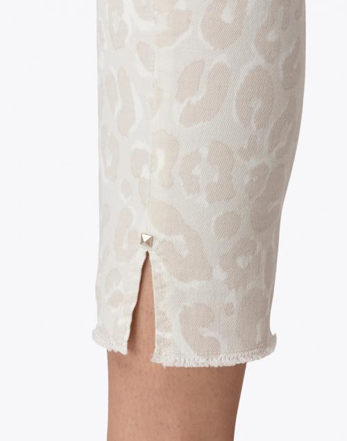 Cambio - Parla Beige Leopard Stretch Denim Jean