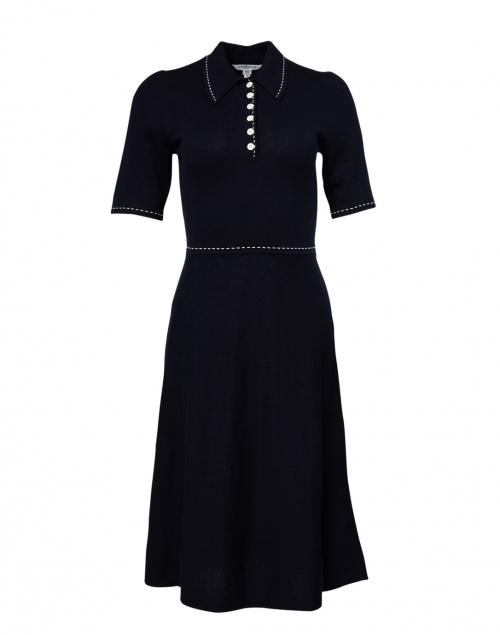 L.K. Bennett - Liv Navy Cotton and Wool Knit Dress