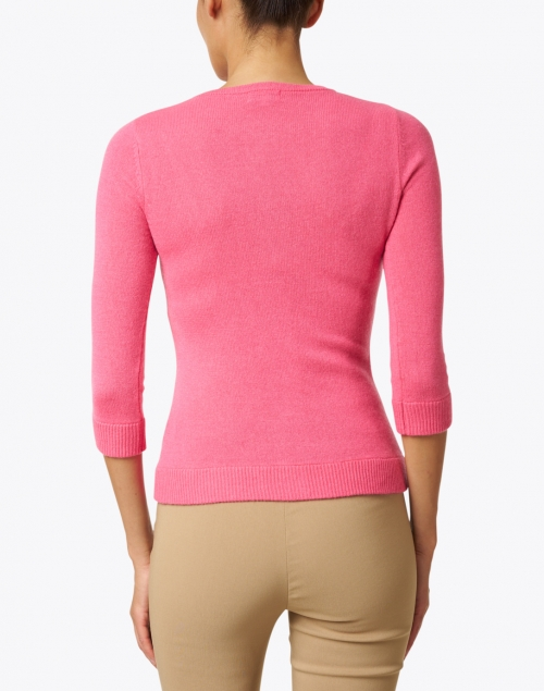 Cortland Park - Uptown Girl Petunia Pink Cashmere Cardigan