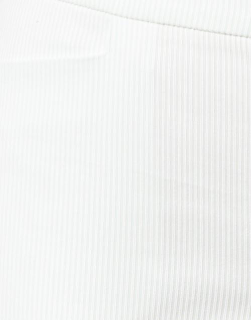 Ecru - Madison Mint and White Stripe Stretch Cotton Crop Pant