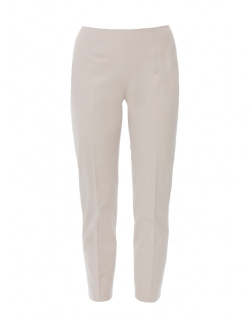 Piazza Sempione Monia Pale Beige Stretch Cotton Pant