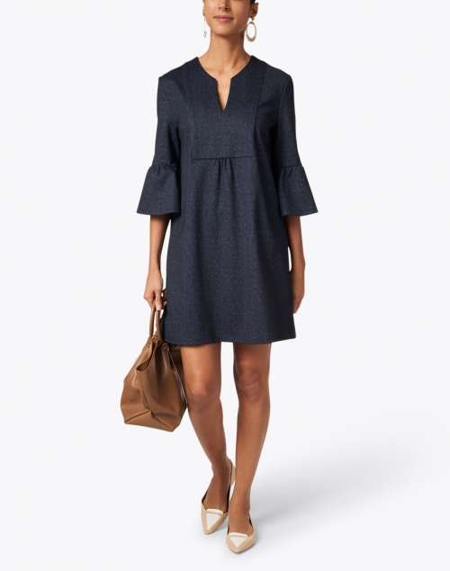 Jude Connally - Kerry Navy Denim Printed Dress