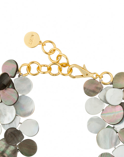 Nest - Grey Mother of Pearl Cluster Necklace