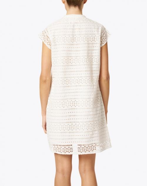 Pomegranate - White Eyelet Cotton Dress