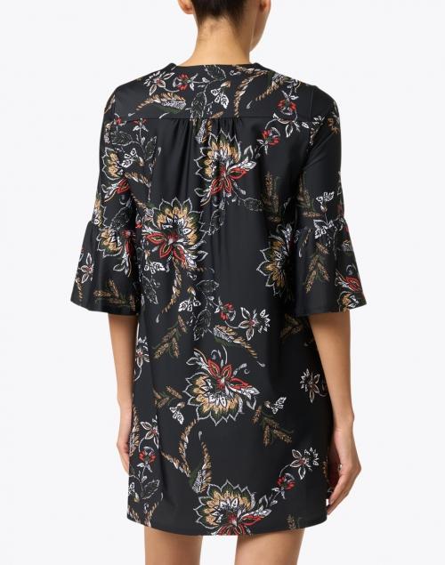 Jude Connally - Kerry Black Floral Print Dress
