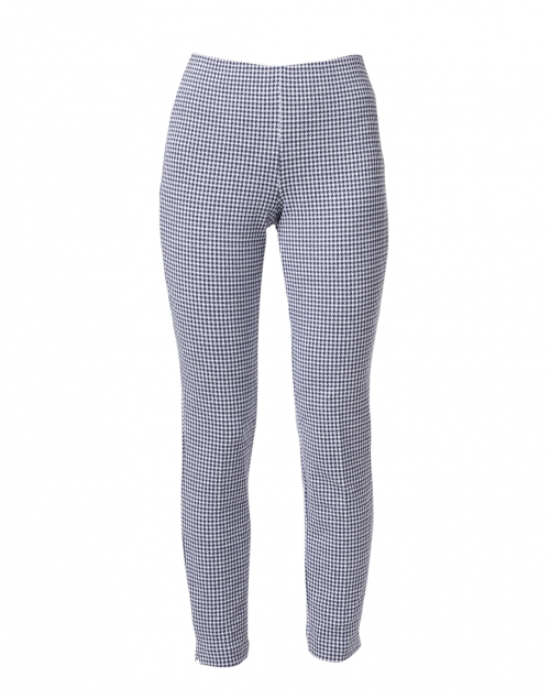 Ecru - Springfield Navy and White Dotted Check Pull On Pant