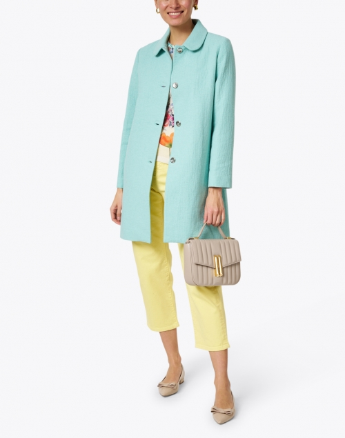 A.P.C. - Turquoise Blended Cotton Overcoat