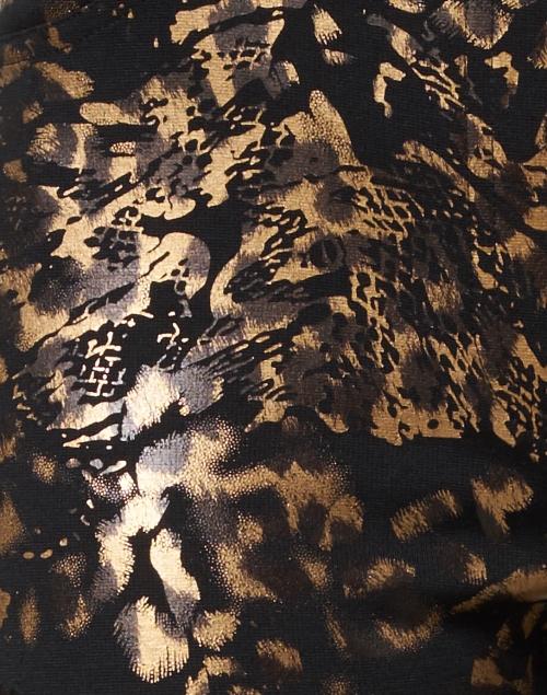 Peace of Cloth - Jade Black and Bronze Metallic Legging