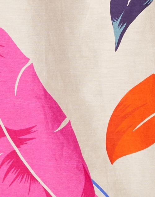 Kobi Halperin - Darrien Feather Leaf Printed Cotton Silk Blouse