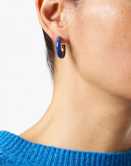 Nest - Lapis Small Hoop Earrings