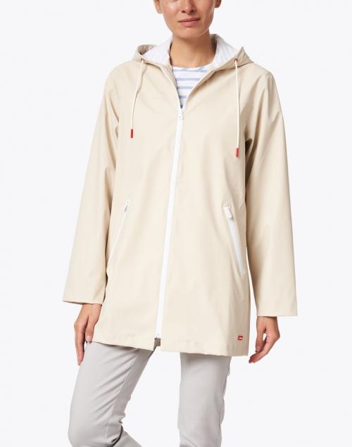 Saint James - Ste Emma Beige Long Raincoat
