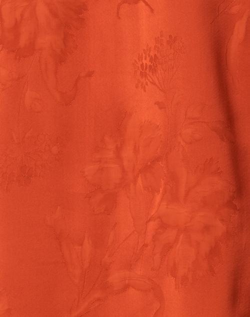 Santorelli - Plata Burnt Orange Floral Blouse