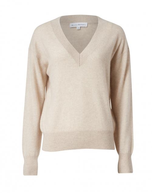 White + Warren - Wheat Heather Cashmere Sweater