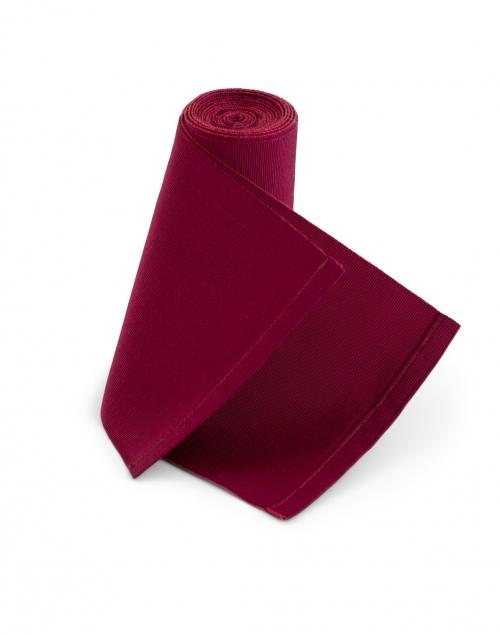 Sara Roka - Burgundy Wide Satin Ribbed Belt