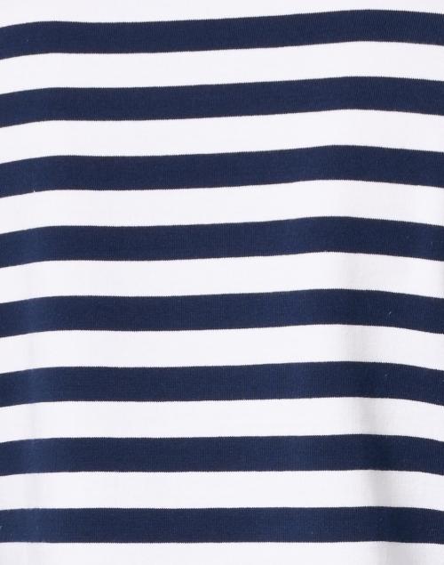 E.L.I. - Navy and White Stripe Stretch Pima Cotton Top
