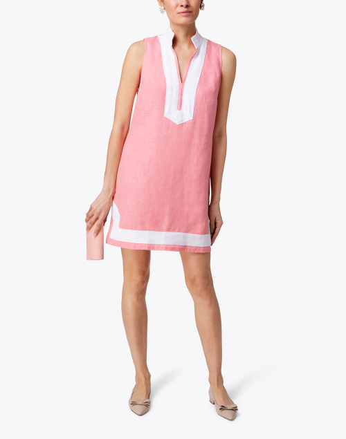 Sail to Sable - Coral Classic Linen Tunic Dress