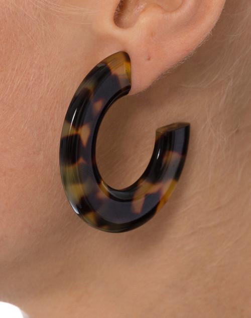 Pono by Joan Goodman - Gia Tortoise Resin Hoop Earrings