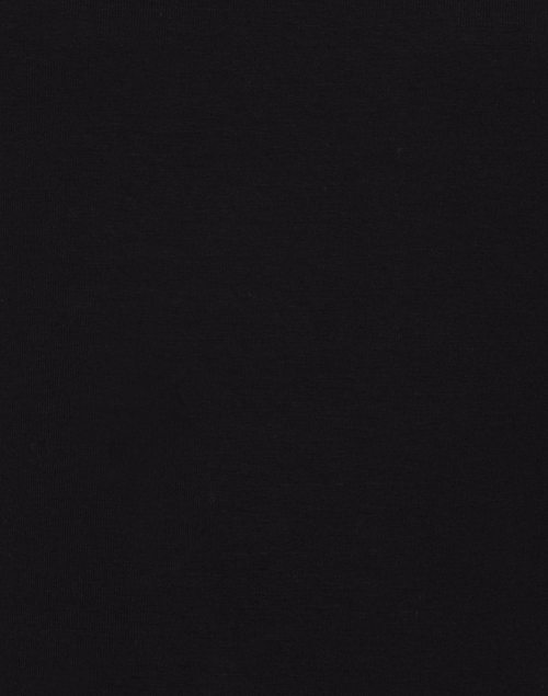 E.L.I. - Black Cotton Ruched Mock Neck Top
