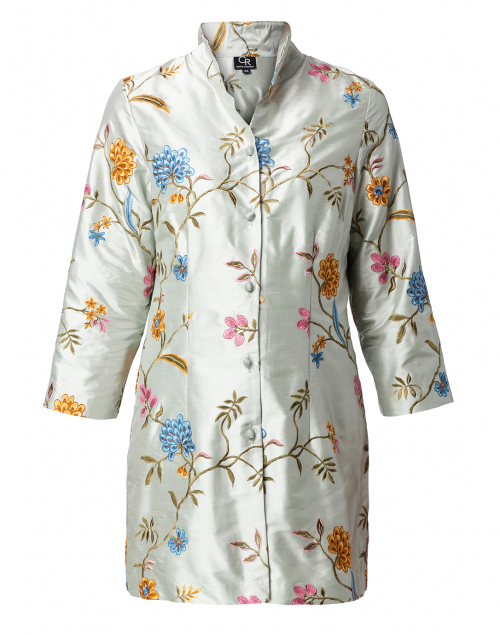 Connie Roberson - Rita Pale Seafoam Enchanted Garden Silk Jacket