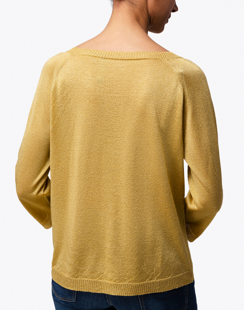 Weekend Max Mara - Milva Gold Metallic Sweater