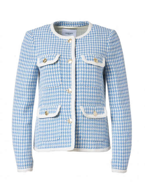 L.K. Bennett - Valentina Blue and White Tweed Jacket