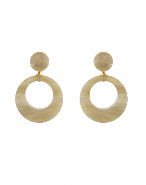 Gas Bijoux - Ischia Jade Resin Drop Hoop Earrings