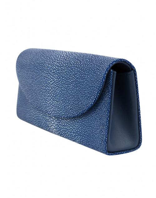 J Markell - Baby Grande Royal Blue Stingray Clutch
