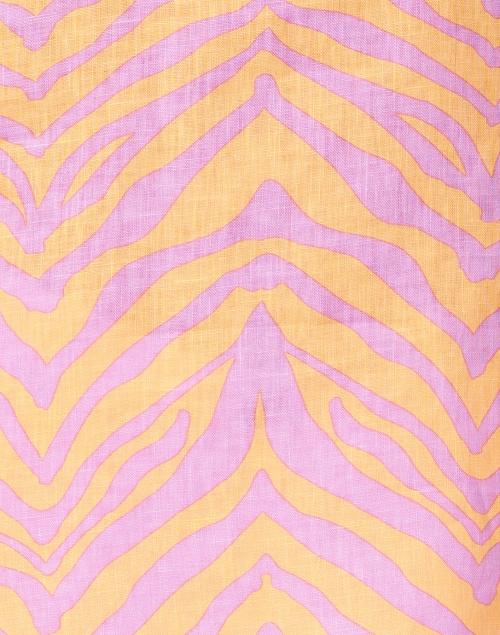 Lafayette 148 New York - Hawley Pink and Orange Zebra Print Linen Blouse