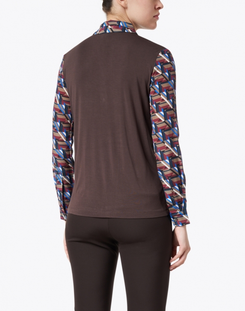 Weekend Max Mara - Girino Multi Geo Print Silk Top