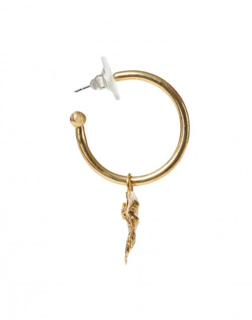 Jennifer Behr - Hansel Gold Leaf Drop Hoop Earring