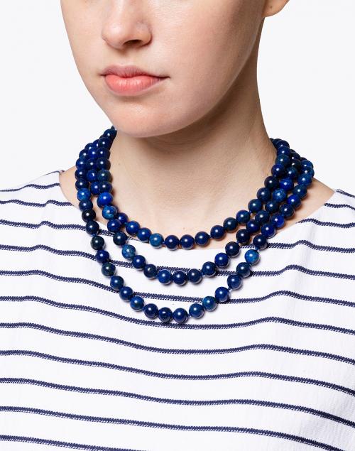 Kenneth Jay Lane - Genuine Lapis Beaded Necklace