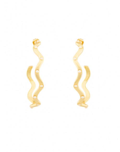 Lulu Frost - Elixir Pearl Studded Gold Hoop Earrings