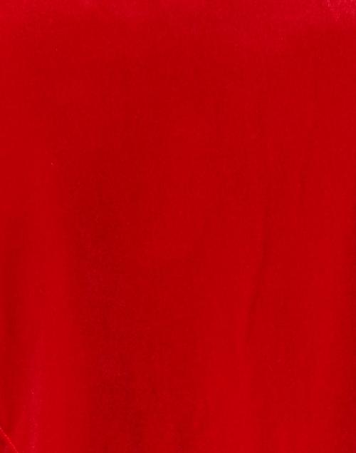 Gretchen Scott - Red Stretch Velvet Ruffleneck Top