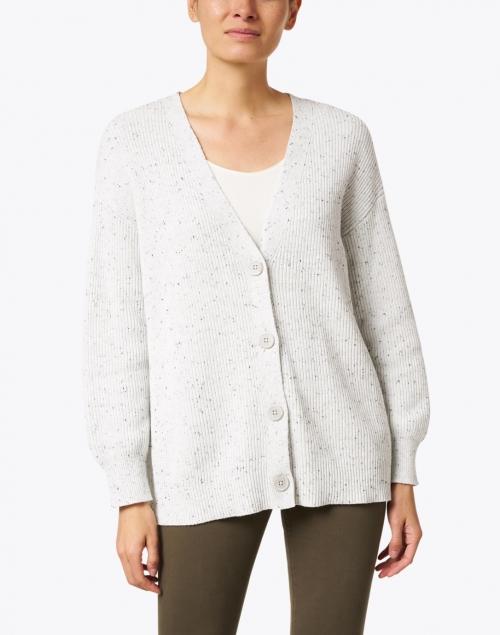 Margaret O'Leary - Light Grey Cotton Cardigan