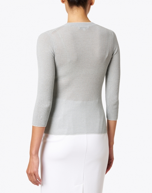 Vince - Sea Green Cotton Knit Top