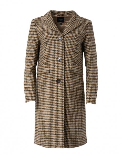 Weekend Max Mara Davy Hazelnut Houndstooth Virgin Wool Jacket