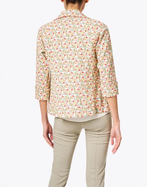 J'Envie - Multicolored Gardenia Floral Crinkle Viscose Jacket