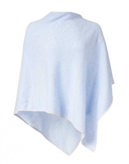 Kinross - Iris Blue and Grey Cashmere Poncho