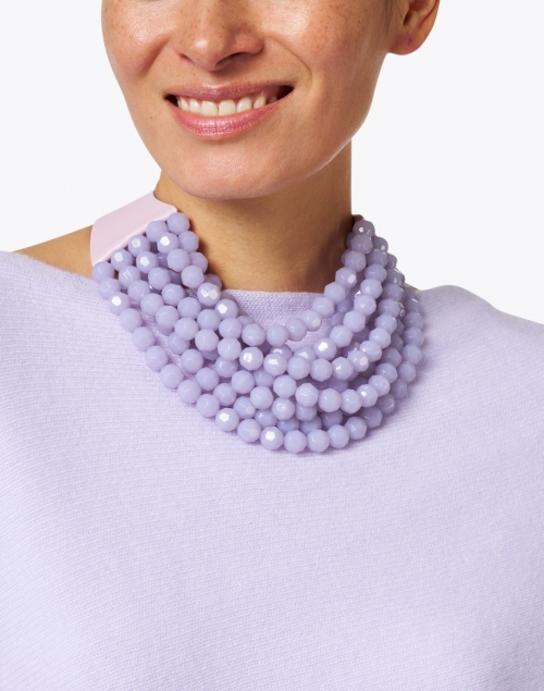 Fairchild Baldwin - Bella Soft Lilac Multistrand Necklace