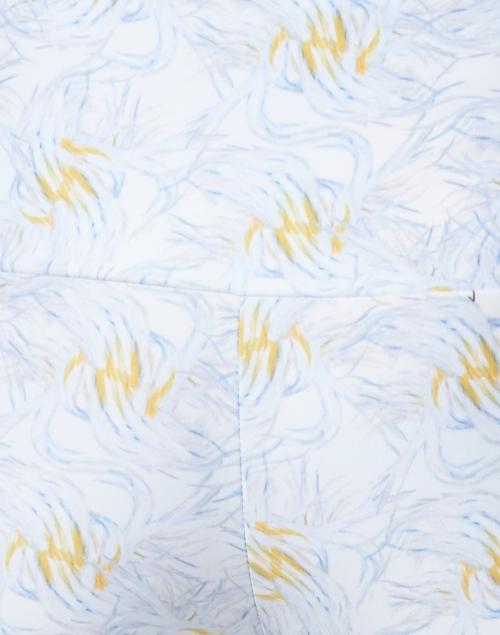 Ala von Auersperg - Elaine Light Blue Birds of Paradise Stretch Pant